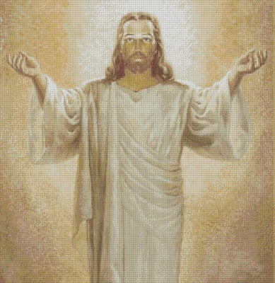 Jesus In Glory Cross Stitch Pattern On International Cross