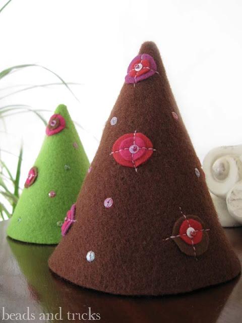 alberelli Natale feltro