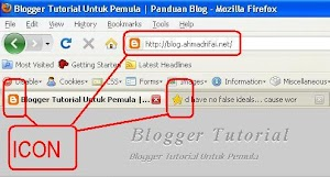 Cara Mengganti Icon/Logo Blog Di Address Bar