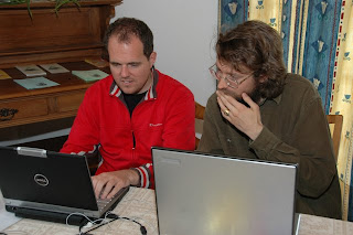 Anto and Armin working on the JIT