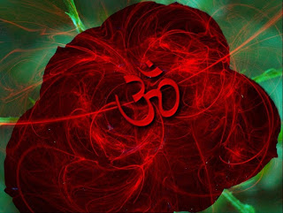 Om 3D in Rose Artwork Image