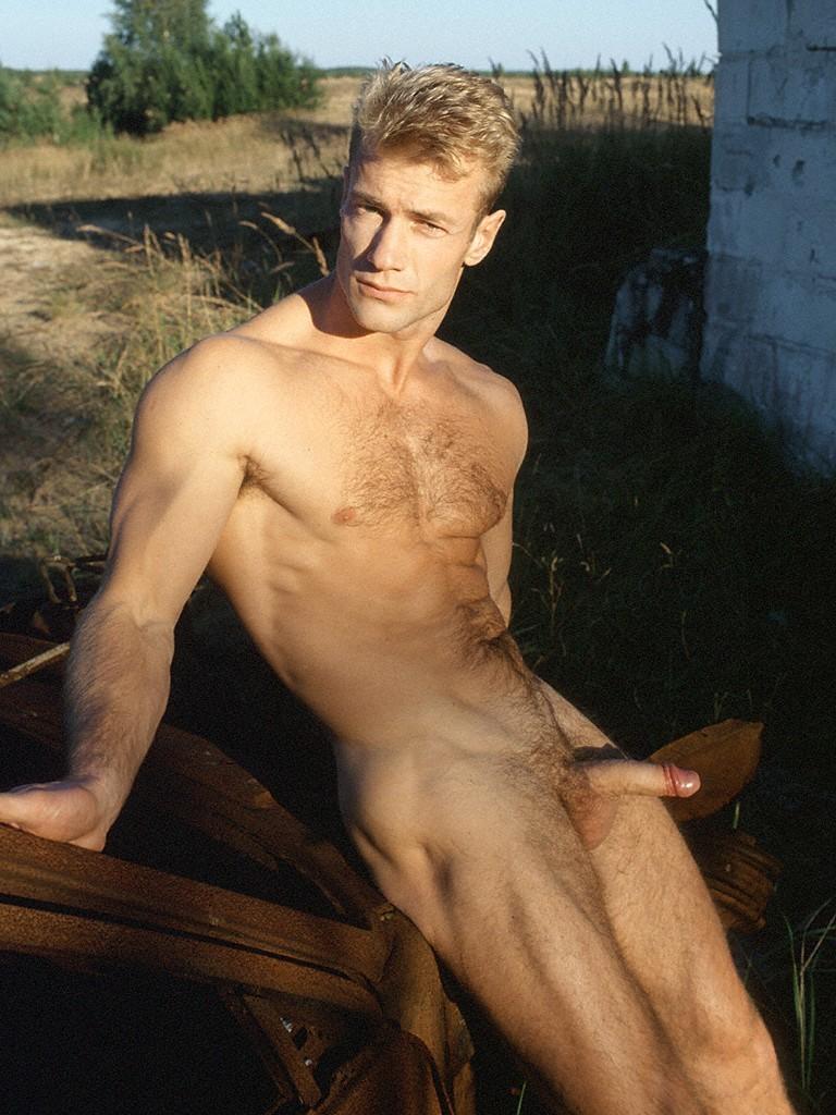 Blonde gay males nude