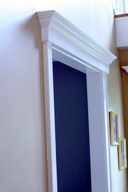 Gentil We Also Added A Coordinating Molding Over The Front Door To Tie It All  Together.