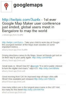 Google Lat Long: Google Maps now on Twitter!