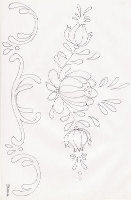 risco bauernmalerei pintura em tecido bauer
