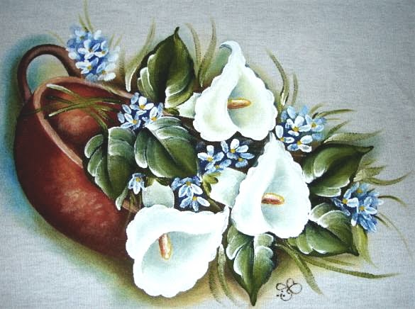 pintura em tecido copos de leite