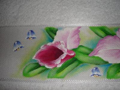 pintura em tecido passo a passo orquidea