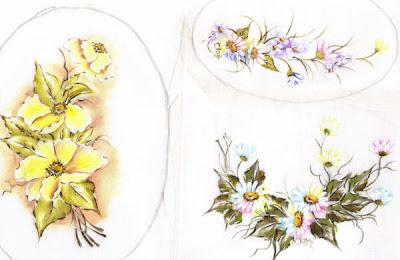 pintura em tecido organdi medalhões para aplicar