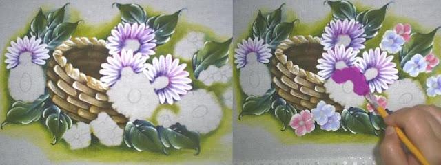 passo a passo pintura em tecido