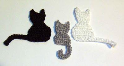 Crochet Cat Face Applique Pattern Appliq Patterns