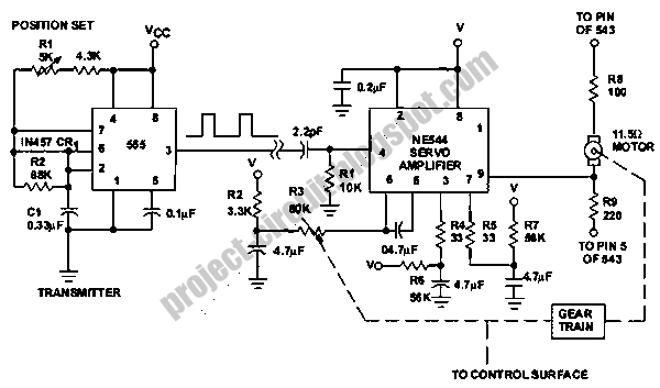 free project circuit diagram  servo motor system