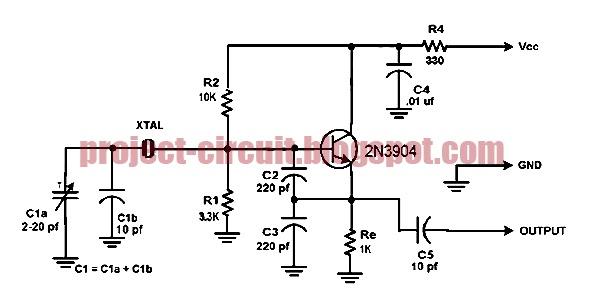Electronics Technology: Colpitts Crystal Oscillator Circuit