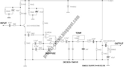 Free Project Circuit Diagram: Ibanez Fat Cat Distortion ... on