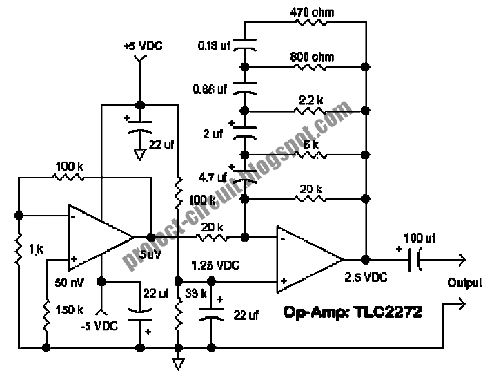 Free Project Circuit Diagram: Pink (Flicker) Noise