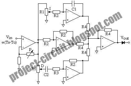 Free Project Circuit Diagram: Analog PID Controller