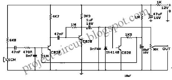 Free Project Circuit Diagram: Mic/Guitar Compressor