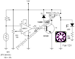 Temperature Sensor Circuit Thermistor Thermistor Schematic