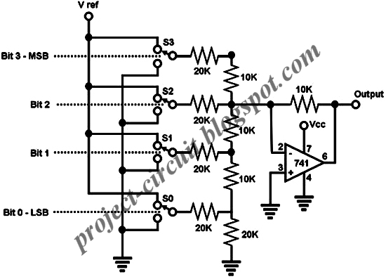 Free Project Circuit Diagram: Op Amp Digital to Analog
