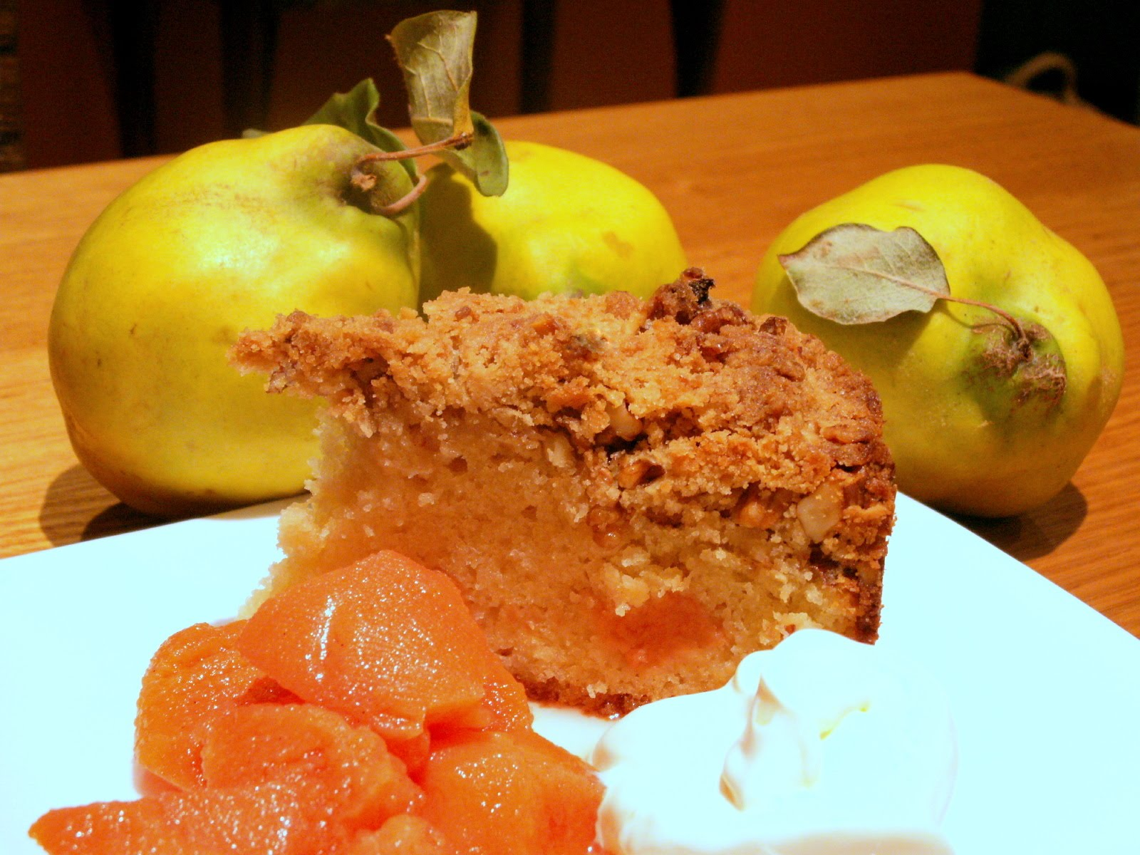 Cake Recipes Using Quinces: Walnuts & Quince: Sour Cream And Quince Cake