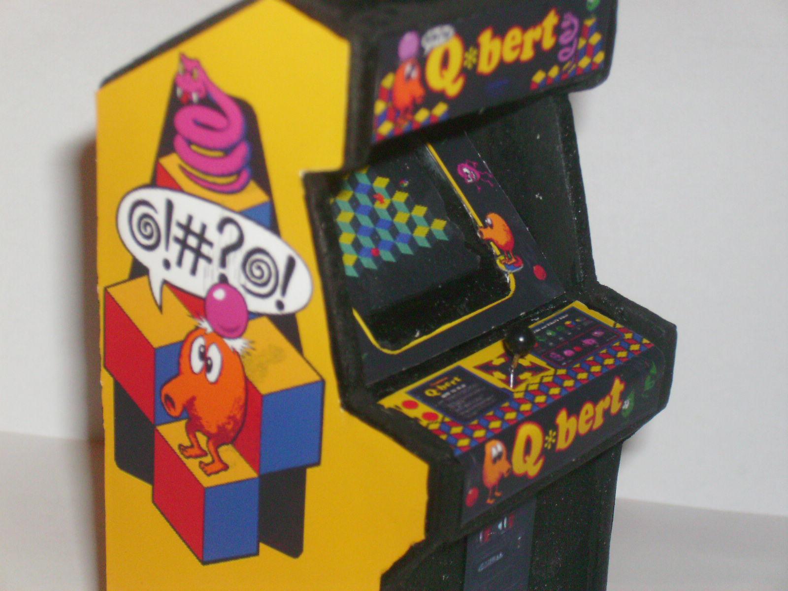 Retro Heart Q Bert Custom Scale Arcade Model