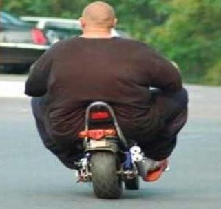 Fat Man On Bike 51