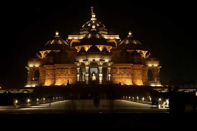 Akshardham Temple at night