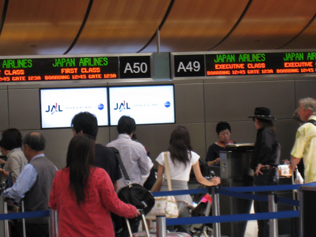 JAL check-in counters at LAX