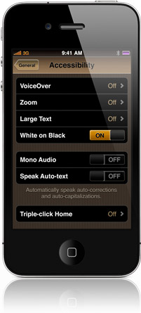 mono audio iphone web accessibility rambles iphone 4 accessibility features 187