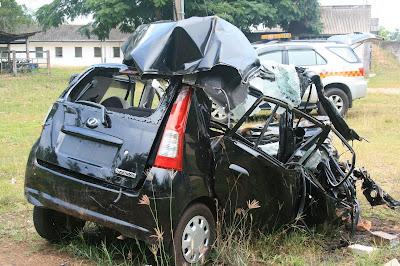 Road Safety Talks: Crash of Unlucky Perodua Viva