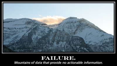 Failure: Mountains of Data with No Actionable Information