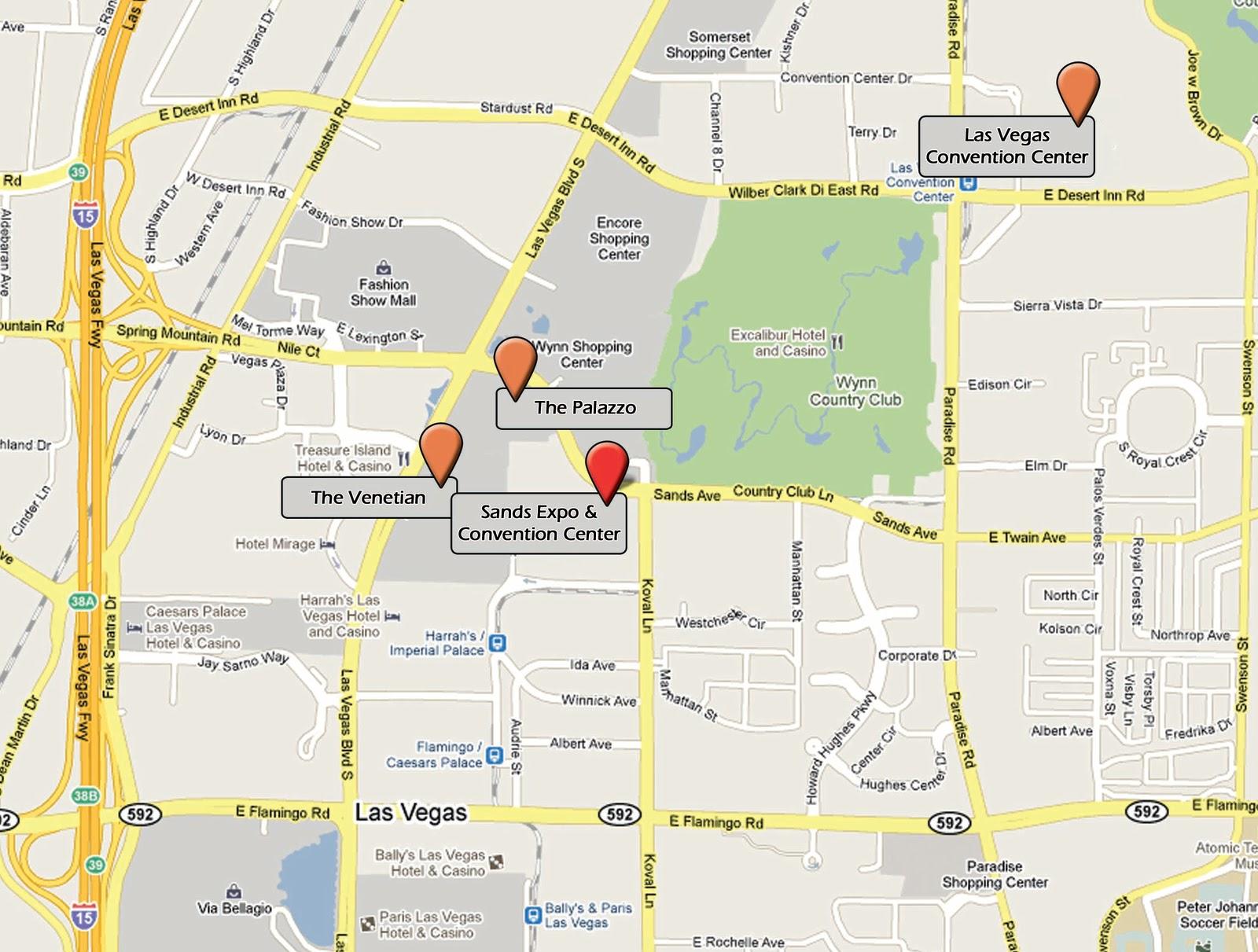 Las Vegas Convention Center Map Of Halls