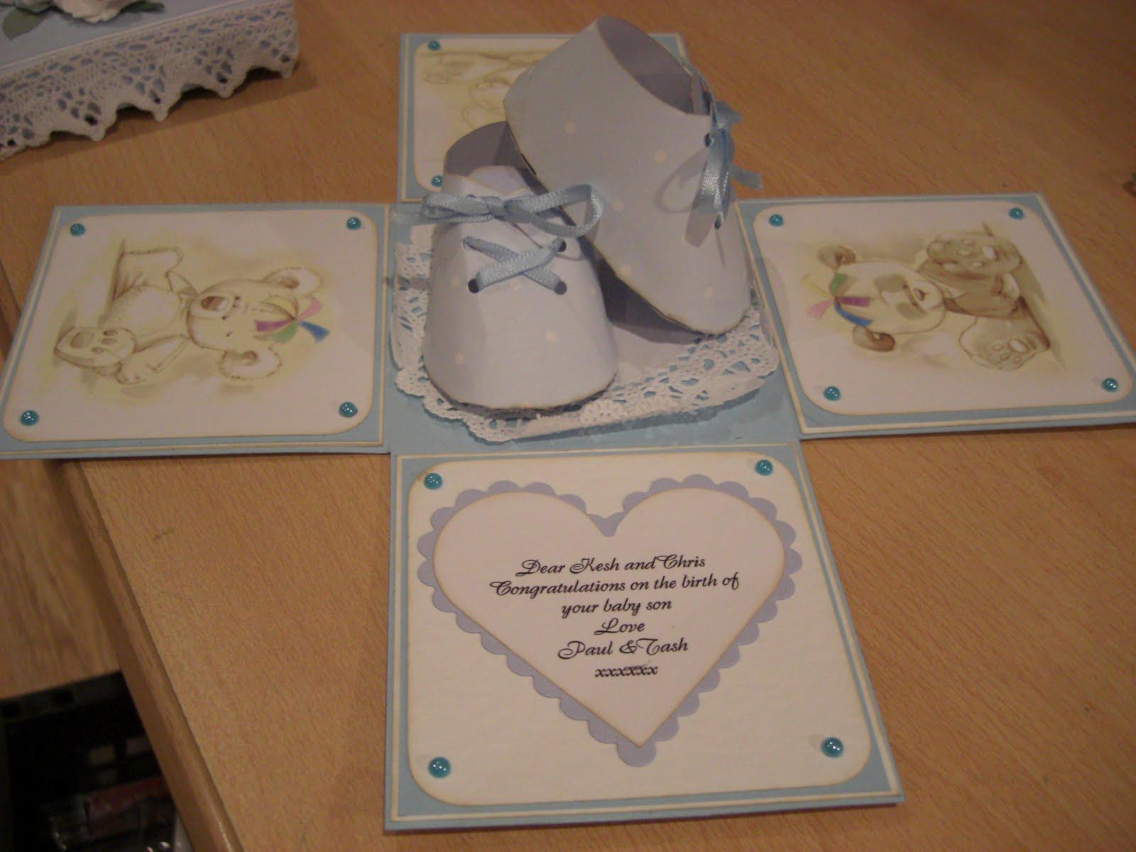 paper baby booties