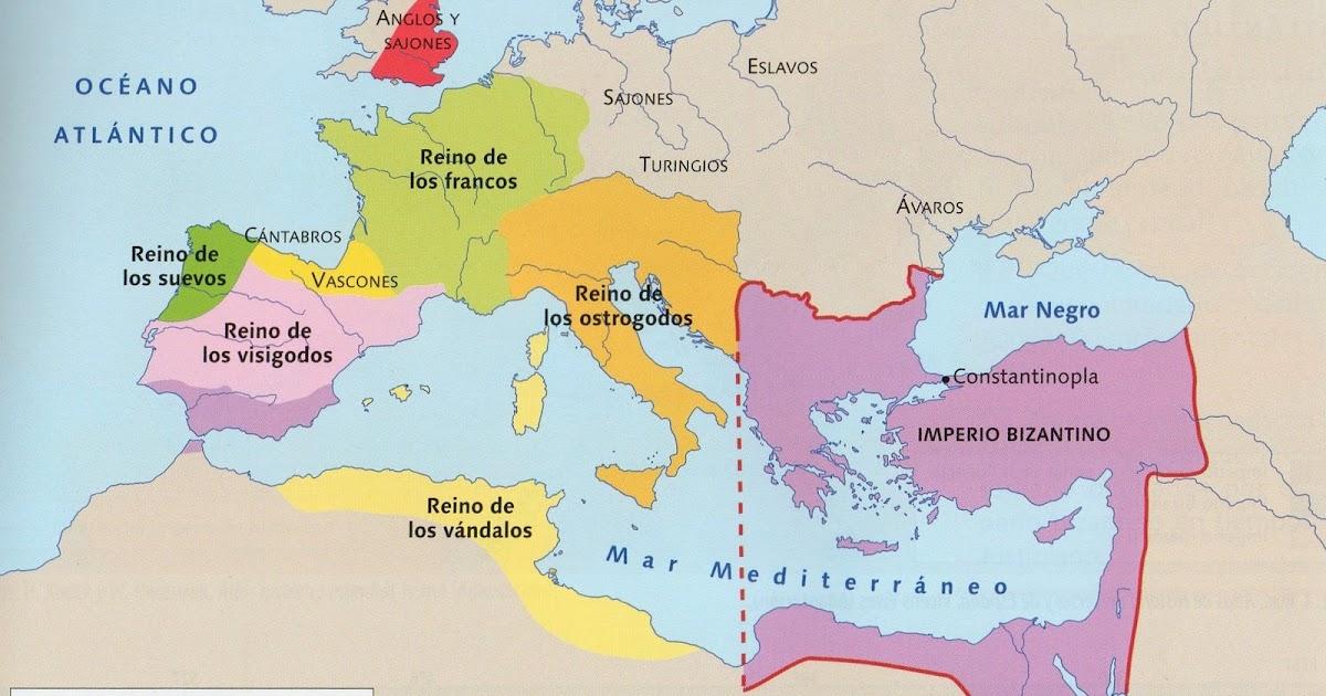 Mapa Europa Siglo Ix.Analisis Del Mapa Europa A Comienzos Del Siglo Vi