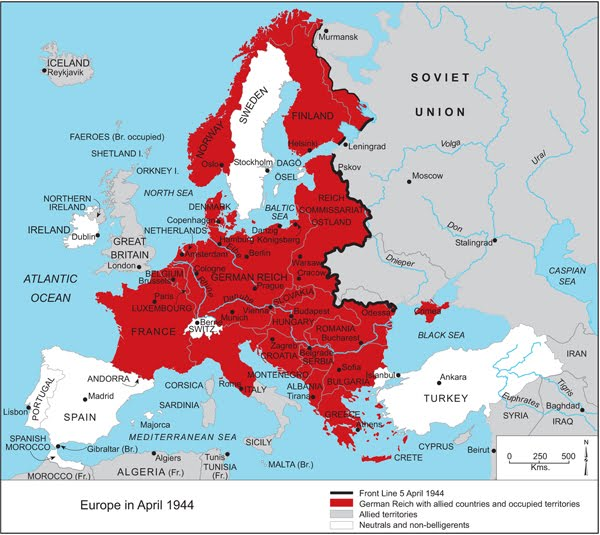 World War 2 Map Of Europe 1941