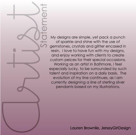 Ballston Arts Market Cool Artist Statement by JerseyGirlDesigns