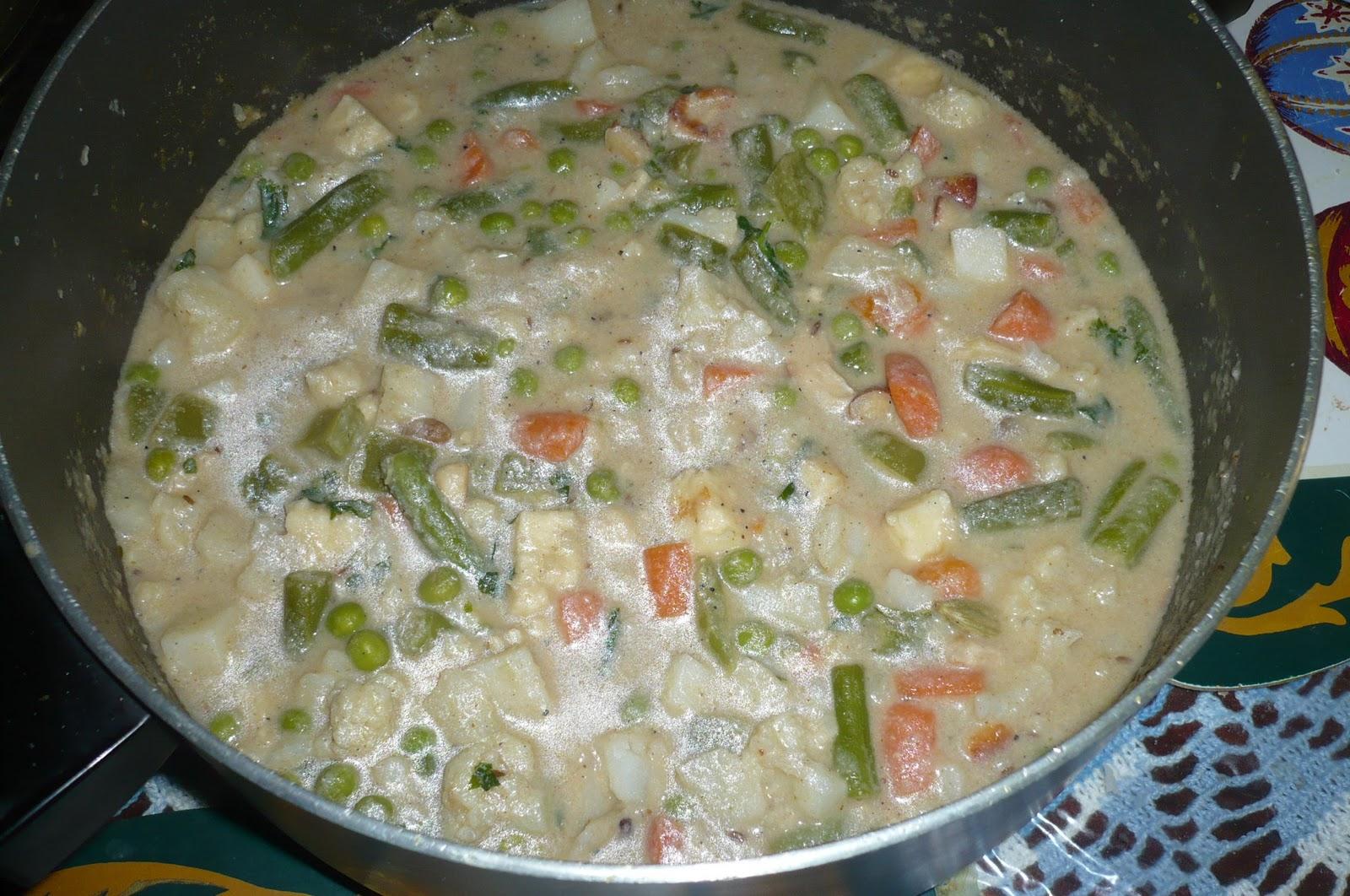 My Desi Blog: Vegetable Navratan Korma