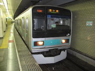 東京メトロ千代田線 霞ヶ関行き5 JR東日本209系1000番台(平日2本運行)
