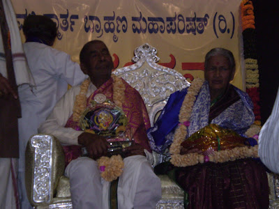 Hardalli Krishnadeva kedlaya being falicitated