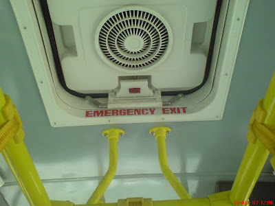 Emergency Exit in Chennai Volvo bus
