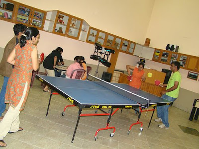 guests playing table tennis