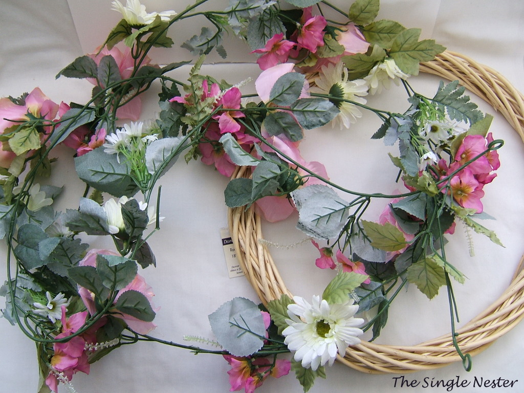 Garland Turned Spring Wreath