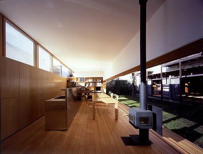 Stainless Steel Kitchen Table Black Cabinet Hardware Engawa(veranda) House: Engawa House | Tezuka Architects