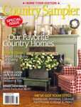 Amy's Vintage Cottage on the cover and inside in the country sampler home tours edition 2008
