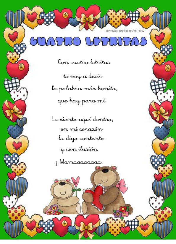 Recursos de educaci n infantil poes as para el d a de la for Cancion jardin de rosas en ingles