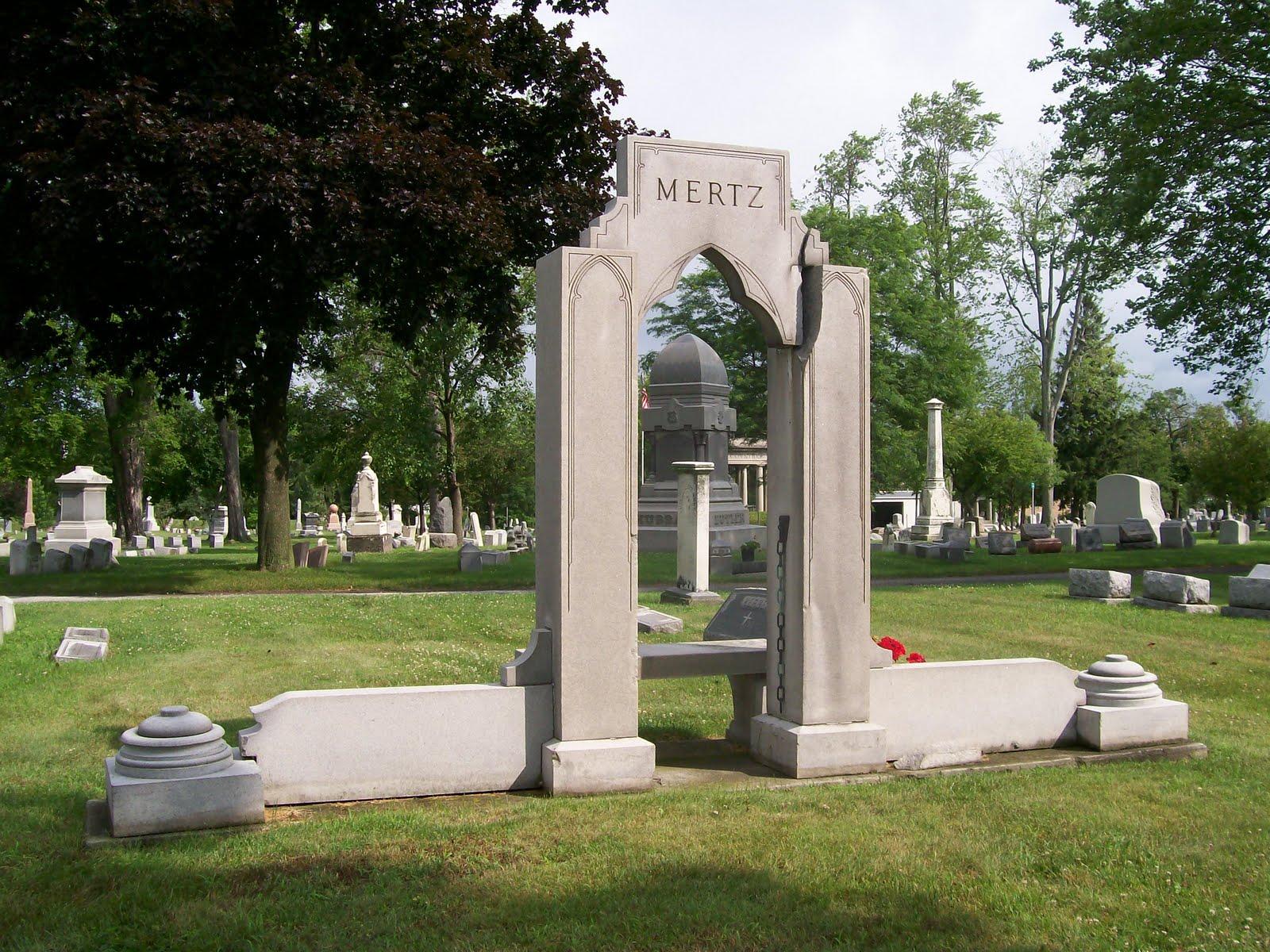 Graveyard Rabbit Of Sandusky Bay Mertz Monument At Oakland Cemetery