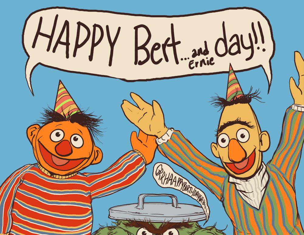JLcomics: JAMIE! Happy BERT...and Ernie DAY