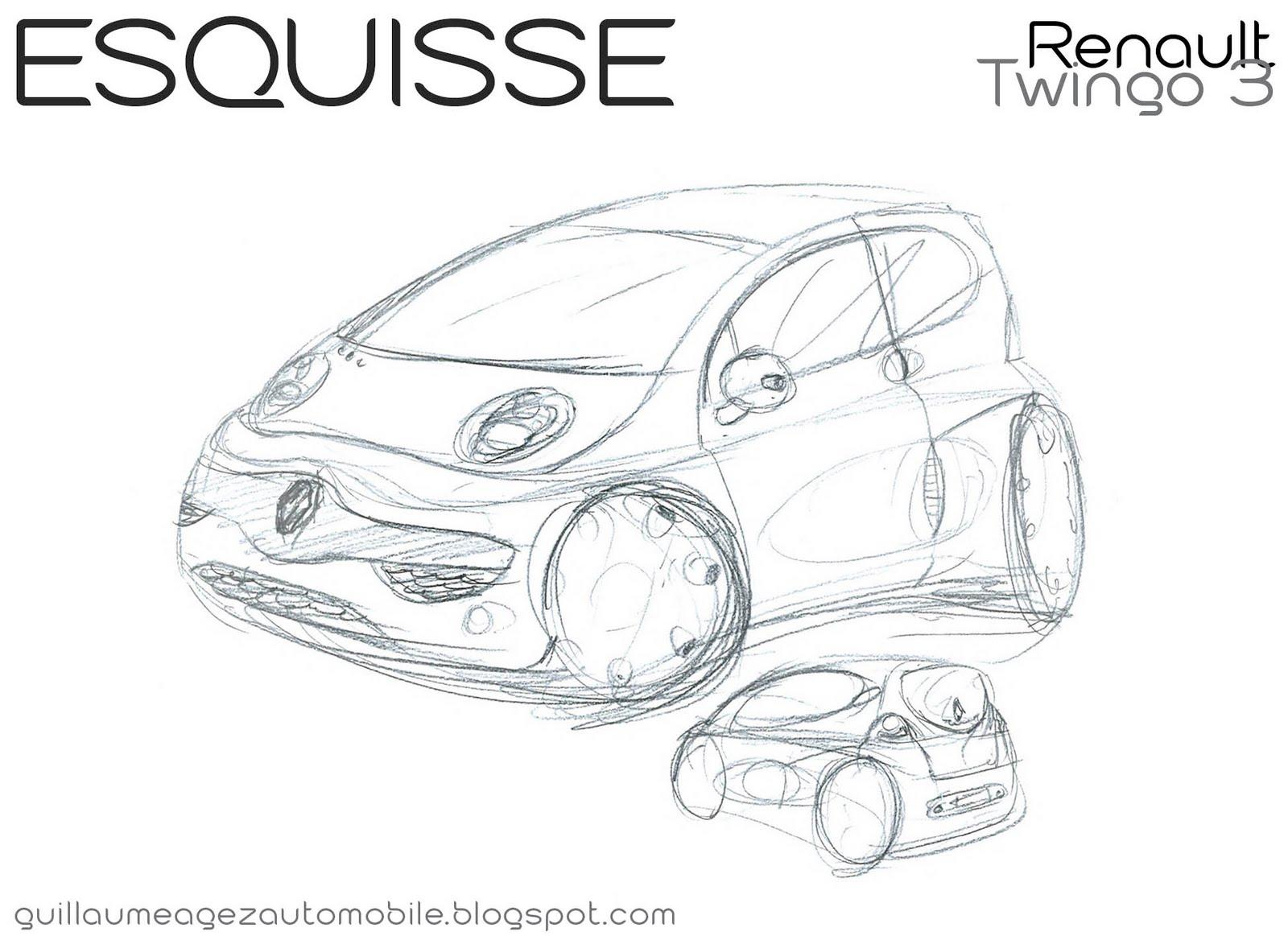 Guillaume AGEZ Automobile: Esquisse : Renault Twingo 3