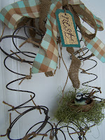 Spring Wreath http://bec4-beyondthepicketfence.blogspot.com/2010/03/spring-literally-nest-wreath.html
