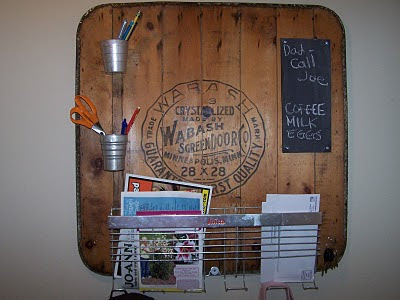 repurposed message center http://bec4-beyondthepicketfence.blogspot.com/2011/01/this-and-that-message-board.html