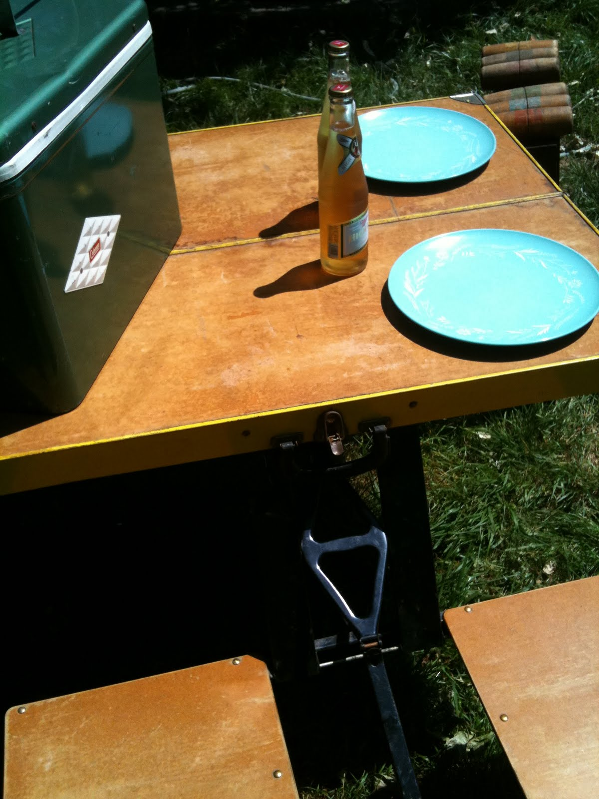 Compact Travel Beach Chairs Aaron Chair Pottery Barn Seattle Junk Love: Sold- 1960's Picnic Table/chairs Set - $125